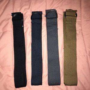 Lot of 4 Men's Double D Ring Belts 🧔🏻